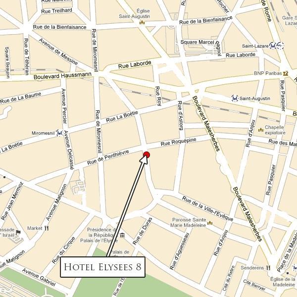 Location Elysees 8 Hotel Paris